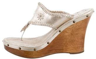 Jack Rogers Leather Wedge Sandals
