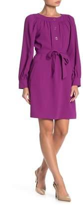 Trina Turk Paulina Tie Waist Long Sleeve Dress