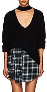 R 13 Women's Cashmere Choker Sweater-Black