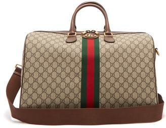 Gucci Ophidia Gg Supreme Logo Weekend Bag - Womens - Grey Multi