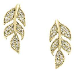 Bloomingdale's Diamond Feather Earrings in 14K Yellow Gold, 0.15 ct. t.w. - 100% Exclusive