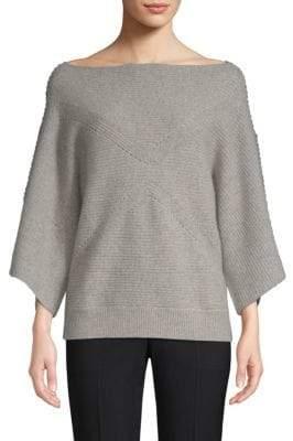 Crisscross-Sleeve Cashmere Sweater