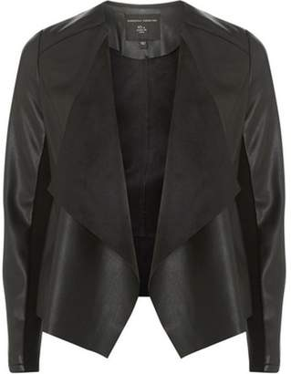 Dorothy Perkins Womens Black Waterfall Jacket