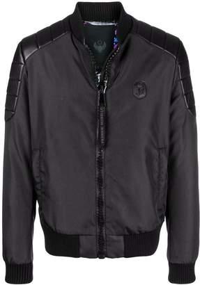 Frankie Morello panelled biker jacket
