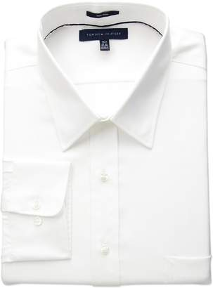 Tommy Hilfiger Men's Big and Tall Non Iron Fit Solid Point Collar Dress Shirt