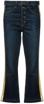 Veronica Beard side stripe flared jeans