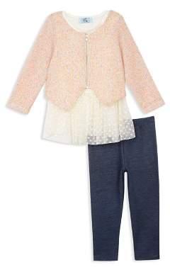 Pippa & Julie Girls' Sweater, Tutu Tunic & Leggings Set - Little Kid