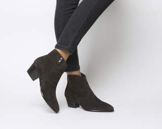 fe46d40a5423 Grey Ankle Boots Low Heel - ShopStyle UK