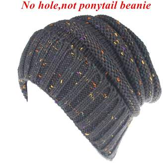 fe4d8601211 D.E.P.T FIST BUMP Men Women Warm Chunky Soft Oversized Stretch Cable Knit  Slouchy Beanie Hat
