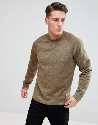 Abercrombie & Fitch Sports Fleece Crew Neck Sweatshirt in Light Khaki