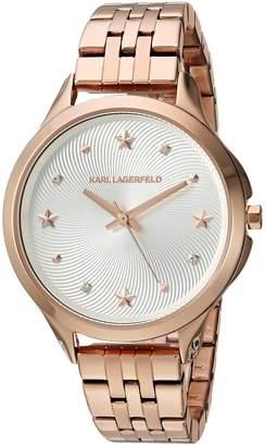 Karl Lagerfeld Women's 'Karoline' Quartz Stainless Steel Casual Watch, Color -Toned (Model: KL3011)
