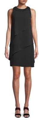 Carmen Marc Valvo Asymmetrical Crepe Dress