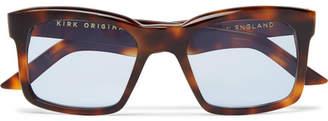 Burton Kirk Originals Square-Frame Tortoiseshell Acetate Sunglasses