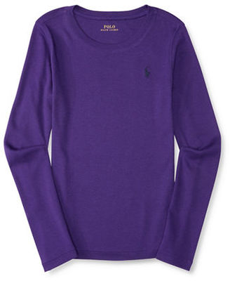 Ralph Lauren Childrenswear Girls 2-6x Long Sleeve Top $25 thestylecure.com