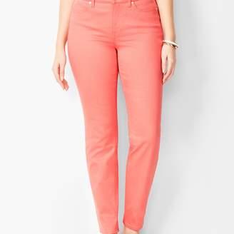 Talbots Slim Ankle Jeans - Curvy Fit/Coastal Coral