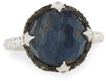 Armenta New World Round Pietersite Doublet Ring with Diamonds