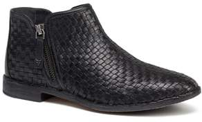 Trask Amy Woven Leather Bootie
