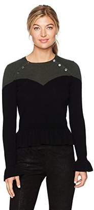 Minnie Rose Women's Corset Sweater