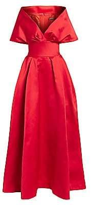 Zac Posen Women's Off-The-Shoulder Duchess Satin Ball Gown