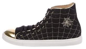 Charlotte Olympia Web High-Top Sneakers