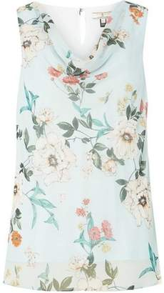 Dorothy Perkins Womens **Billie & Blossom Tall Sage Floral Print Top