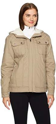 Cinch Women's Canvas Jacket With Quilted Lining and Sherpa Hood