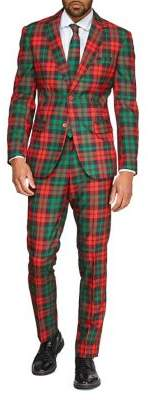 Opposuits 3-Piece Slim-FIt Trendy Tartan Christmas Suit