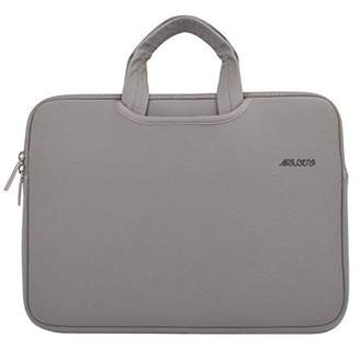 Mosiso Laptop Briefcase, Water Repellent Neoprene Carry Bag Sleeve for 15-15.6 Inch Laptop / Notebook Computer / MacBook Pro / MacBook Air(Internal Dimensions: 15.16 x 0.79 x 10.63 inches), Gray