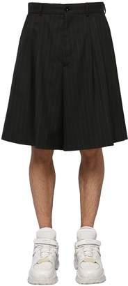 Maison Margiela Loose Virgin Wool Shorts