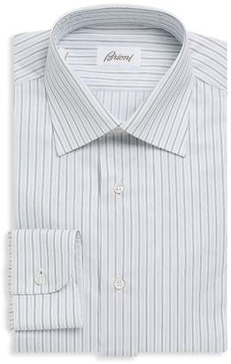 Brioni Men's Striped Cotton Button-Down Dress Shirt