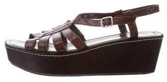 Donald J Pliner Leather Wedge Sandals