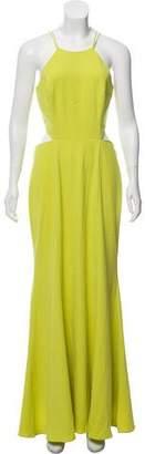Marchesa Maxi Halter Dress