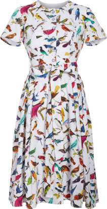 Carolina Herrera Bird Print Dress