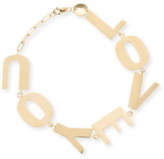 Jennifer Zeuner Jewelry Love You Bracelet in 18K Gold Plate