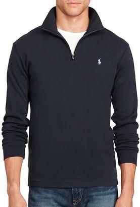Polo Ralph Lauren Cotton Half-Zip Pullover $145 thestylecure.com