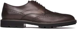 Tod's Lace-up Brogues In Brown Leather