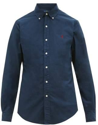 Polo Ralph Lauren Slim Fit Garment Dyed Cotton Oxford Shirt - Mens - Navy
