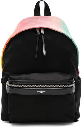 Saint Laurent Mini Ombre Satin City Backpack
