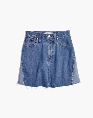 Madewell Reconstructed Mini Jean Skirt