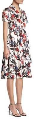 Jason Wu Floral-Print A-Line Poplin Dress