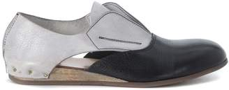Moma Black And Ice Leather Slip On