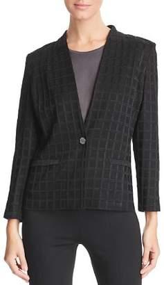 Misook Check Knit Jacket