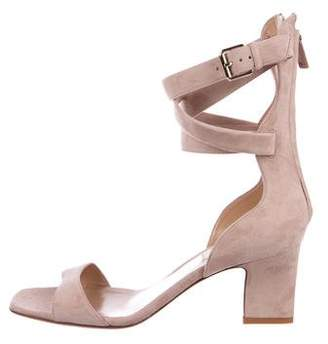 Valentino Suede Ankle Strap Sandals w/ Tags
