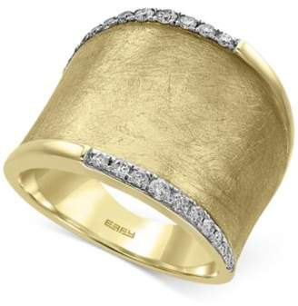 Effy D'Oro by Diamond Wide Band (1/4 ct. t.w.) in 14k Gold