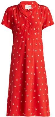 Morgan HVN dice-print silk midi dress