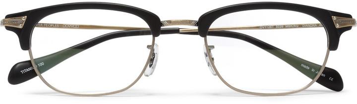 Oliver Peoples Diandra Rectangular-Frame Optical Glasses