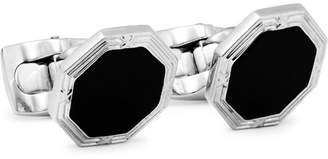 Deakin & Francis Rhodium-Plated Onyx Cufflinks - Men - Black