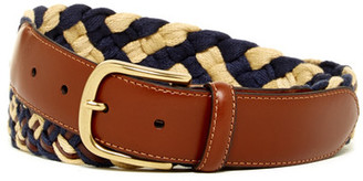 Tommy Bahama Cotton and Leather Braided Belt $88 thestylecure.com