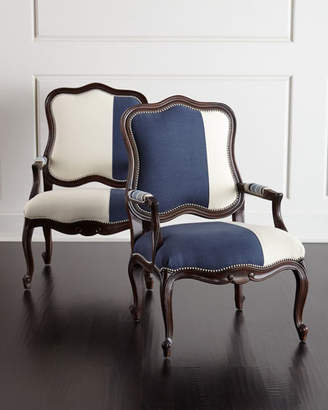 Massoud Michael & Madison Colorblock Bergere Chair Set