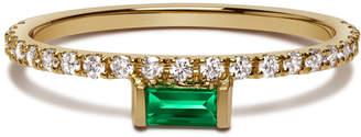 Nikita Selin Kent 14k Gold Emerald & White Diamonds Ring